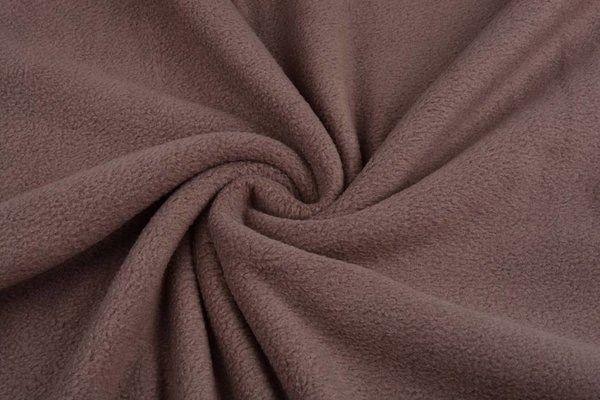 Fleece Stoff taupe